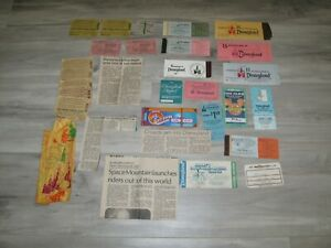 Lot Vintage Disneyland Ticket Books  70s 80s 90s Disney Coupon Newspaper Clips