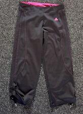 Ladies Adidas Climalite black and Pink 3/4 fitness leggings UK 8