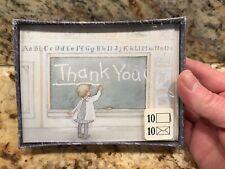 Hallmark Thank You Notes Vintage Blank Note Cards Child Classroom School Teacher