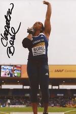 Athletics: Cleopatra Borel Signed 6x4 Action Photo+Coa *Trinidad & Tobago*
