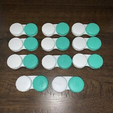 ALCON Lot of 11 Contact Lens Storage Cases with Screw Top Lids Unused