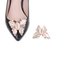 1Pc Crystal Rhinestones Opal Shoe Clips Women Bridal Prom Shoes Buckle Decor JO
