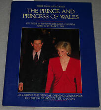 Prince And Princess Of Wales On Tour British Columbia Canada Apr 30-May 7 1986