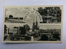 Tilburg NL Vintage B&W Postcard 1955 Multi view
