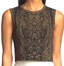 Torn By Ronny Kobo Darcey Safari Jacquard Crop Top Size Medium New With Tags NWT