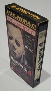 Halloween 4 VHS Tape 1988 Cardboard Cover Sleeve Horror. Tested.
