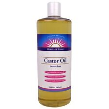Heritage Products Castor Organic Oil  Pure Cold Pressed 32 fl oz 960 ml