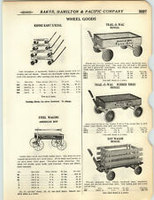 1923 PAPER AD Mengel Trail O Wag Rubber Tore American Boy Coaster Wagon