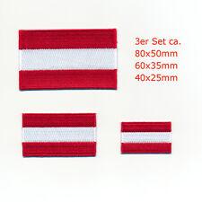 3 Österreich Flaggen Austria Flags Wien EU Patch Aufnäher Aufbügler Set 0927