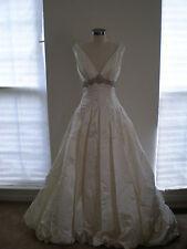 NWOT Authentic Beautiful Designer Jim Hjelm Ivory Wedding Dress Style 8765