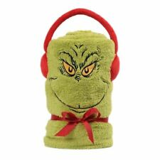 Dr. Seuss The Grinch Fleece Throw Blanket - Christmas Accessories