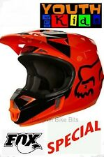NEW FOX Youth Motocross Helmet KTM Orange MASTAR Kids Dirt Bike MX All Sizes