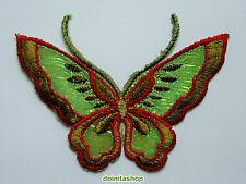 Applikationen zum Aufbügeln - Schmetterling - Grün Aufnäher Neu