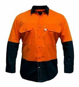 Ritemate Men's Australian Cotton Hi Viz Shirt RMPCAC03