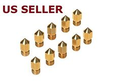 10PCS Brass Extruder Nozzle Print Head for MK8 Makerbot Reprap 1.75mm 3D Printer