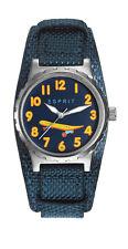 ESPRIT -tp90653 blue ES906534003 Kinderuhr Soff / Leder band neu