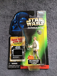 STAR WARS POTF Luke Skywalker( With Blast Shield Helmet ) Action Figure On Card