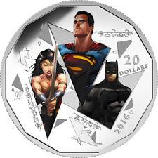 """Box /& COA 2016 Canada Maple /""""SUPERMAN vs BATMAN/"""" Colorized 1oz .9999 Silver"""