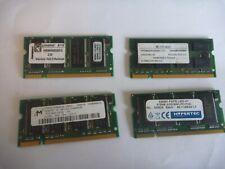 1 x 512MB DDR266 PC2100 Laptop memory RAM SODIMM Kingston Micron Infineon