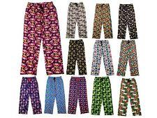 Mens Character Pyjama Bottoms Novelty Lounge Pants Ex Store Size XS-XXL