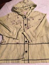 Sweet Jesse Woman's Hooded Jacket Size Medium 100 % Linen