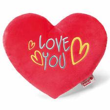 """Nici 40196 Kissen Herz """"love you"""" 25 cm Rot Plüsch"""