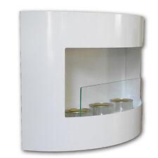 Ethanol Kamin RIVIERA Weiß mit Sicherheitsglas Wandkamin Bodenkamin Ethanolkamin