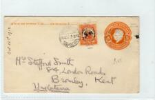 MEXICO: 1912 postal stationery envelope to England (C44051)