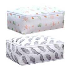 Printed Quilt Storage Bag Clothes Pillow Blanket Travel Luggage  Organizer Bag
