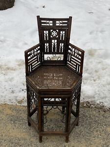 Antique 19thC China Trade Bamboo Hexagonal chair