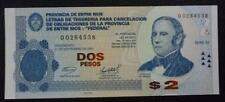 ARGENTINA EMERGENCY BANKNOTE 2 Pesos, UNC 2005 (Entre Rios) - Series D2