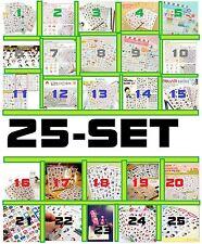WHOLESALE MIXED LOT 25 SET Card Scrapbooking Diary Decoration calendar Sticker