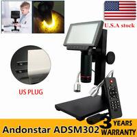 Andonstar ADSM302 HDMI 5'' Screen Digital Microscope PCB Solder Repair Tool NEW