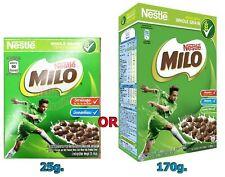 25 g. MILO Chocolate and malt flavored whole grain wheat balls breakfast cereal