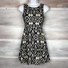 Victorias Secret PINK Juniors XS Skater Dress Aztec Tribal Fit Flare Black White