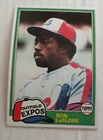 1981 Topps Expos Ron LeFlore #710 Traded & Regular  Lot Of 1100+ Ex+ - NM Mint