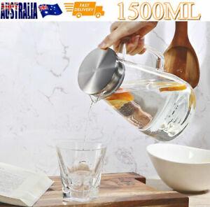 Glass Teapot Heat Resistant Coffee Pot Clear Water Drink Glass Jug