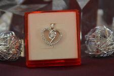 Schöner Herz Anhänger, mit Swarovski Crystals aus Zirkonia, echt Silber 925, NEU