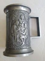 Vintage Castleware Beer Stein Pewter Tone A Skinner Made In Spain