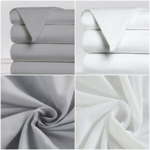 TOP HOTEL QUALITY 100% EGYPTIAN COTTON 400 TC FLAT BED SHEET DOUBLE KING SIZES