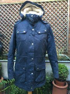 Barbour International WINTER BROADSTONE  cotton hooded women's jacket coat 14