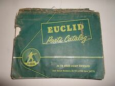 Euclid 36 TD Rear Dump Parts Catalog Manual DAMAGED FACTORY OEM HEAVY EQUIPMENT