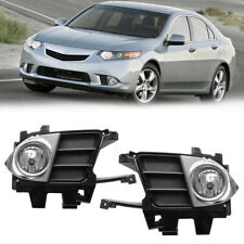 Fog Light Lamp Cover Trim For Acura TSX 2011 2012 2013 2014 Replacement w/ Bulbs