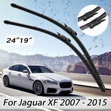 """Front 24"""" 19"""" Right + Left Window Windscreen Wiper Blade Set For Jaguar XF"""