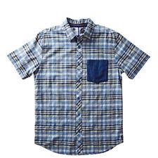Analog Richmond Short Sleeve Shirt (M) Cadet Blue