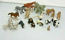 Schleich Lot of 20 figures Elephant Horse Panda Lion Tiger and others