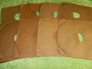 """8 x Original used PLAIN BROWN 12"""" 78rpm PAPER record sleeves ALL PICTURED 2"""