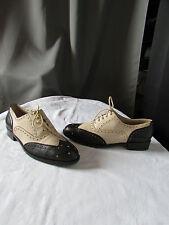 chaussures derbies lario 36,5 cuir beige/noir