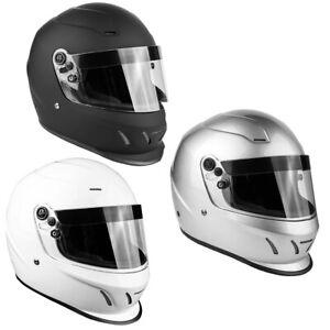 Adult SNELL SA2015 Helmet Full Face Matte Black Silver White