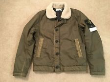 Stone Island Mussola Gommata Jacket in Olive. New with Tags. Size Medium.